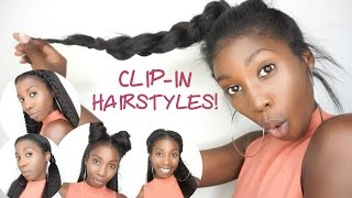 getlinkyoutube.com-5 Easy Clip-in Back To School Hairstyles! | Knappy Hair Extensions