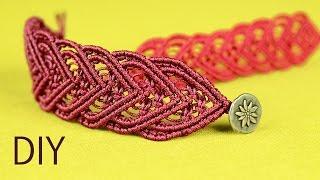 getlinkyoutube.com-Amazing Macramé Heart Bracelet Tutorial ❤