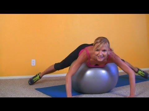 Ćwiczenia Fitness na Nogi, Uda, Pupę i Brzuch ♦ Trening na Piłce Stabilizacyjnej