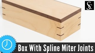 getlinkyoutube.com-Making a Box With Splined Miter Joints