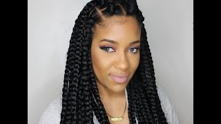 HOW TO: JUMBO BOX BRAIDS (RUBBERBAND METHOD)