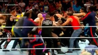 WWE RAW 24 JUNE 2015 BROCK LESNAR VS UNDERTAKE(BIGGEST FIGHT OF THE HISTORY )