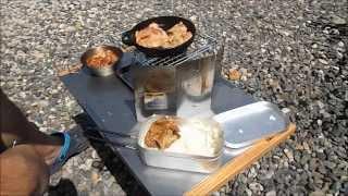 getlinkyoutube.com-自作アルコールバーナーとダイソーオイルポット改ウッドガスストーブで焼肉 Wood gas stove with alcohol burner that you create