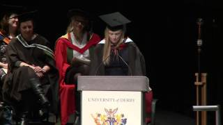 Vote of thanks by Rebecca Evans, University of Derby