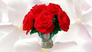 getlinkyoutube.com-Manualidades  rosas  hermosas de papel y cintas