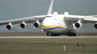 getlinkyoutube.com-Antonov 225 Mriya Departs Manchester Airport, 26th June 2013