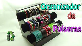 getlinkyoutube.com-134. Manualidades: Organizador de Pulseras (Reciclaje de tubos de cartón) Ecobrisa