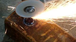 getlinkyoutube.com-Как сделать отверстие в металле,в безвыходной ситуации без профинструмента