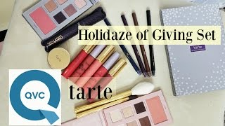 getlinkyoutube.com-QVC tarte HOLIDAZE OF GIVING SET | Review & Swatches