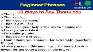 500 Real English Phrases Part-1 (beginner Phrases)