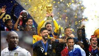 Finale de la coupe du monde 2018 , la reaction de elhadji Diouf , l'ambassadeur francais