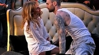 getlinkyoutube.com-Adam Levine Behind the Scenes with Anne Maroon 5 - Never Gonna Leave this Bed