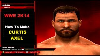 WWE 2K14 - How To Make Curtis Axel