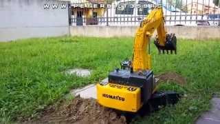 getlinkyoutube.com-Excavator Hydraulic Komatsu PC800 RC 1:14 Test excavation
