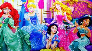 getlinkyoutube.com-Puzzle Game Disney Princess Clementoni Rompecabezas Kids Puzzles De Playset Toys