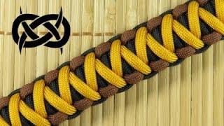 getlinkyoutube.com-How to make the Solomon-V Bar Paracord Bracelet