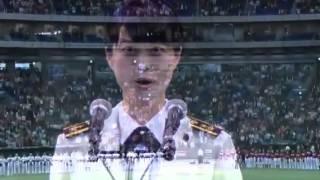 三宅3曹東京ドームで国歌独唱