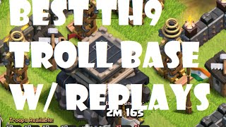 getlinkyoutube.com-Clash Of Clans - The BEST TH9 Troll Base w/Replays (MASTERS 3/2/1) ♦ CoC ♦