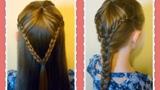 "getlinkyoutube.com-""Fairy Wings Braid"" Half Up Hairstyles For School, hair4myprincess"