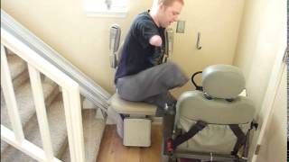 getlinkyoutube.com-How does a quad amputee easily charge his own power wheelchair without hands?