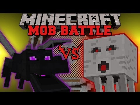 ENDER DRAGON VS GHAST - Minecraft Mob Battles - Arena Battle