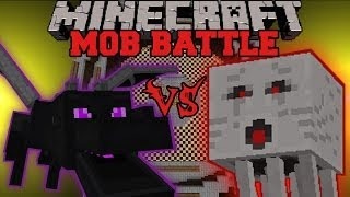 getlinkyoutube.com-ENDER DRAGON VS GHAST - Minecraft Mob Battles - Arena Battle