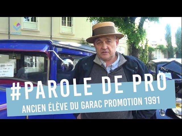 Regis LEFEBVRE, ancien eleve GARAC BTS 1991, Expert auto