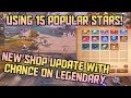 Using 15 Popular Stars in NEW Shop Live! Lucky Draw Changes - Crusaders of Light