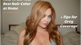 How To Get Your Best At Home Hair Color | My Strawberry Blonde Formula +  Grey Coverage Tips