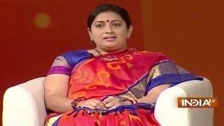 getlinkyoutube.com-IndiaTV Samvaad: Union HRD Minister Smriti Irani at India TV Conclave