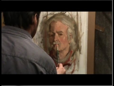 Portrait Painting in Oil, Paint a portrait without drawing.