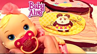 getlinkyoutube.com-Baby Alive Luv n Snuggle Doll and What's in My Diaper Bags!