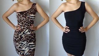 Fashion DIY How to Make A One Shoulder Reversible Dress Party Dress Cocktail Clubbing Sexy