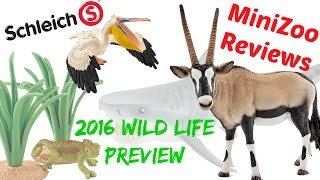 getlinkyoutube.com-Schleich 2016 Wild Life and Ocean Animals Preview