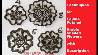 getlinkyoutube.com-Mehndi Class for Beginner- Techniques for Equale Petaled Arabic Shaded Flowers with Description