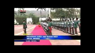 getlinkyoutube.com-President Zuma inspects guard of honour in Abuja, Nigeria
