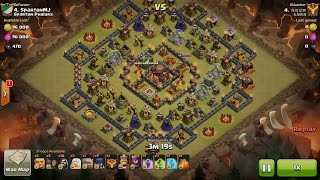 Clash of Clans TH10vsTH10 3 Healer, 2 Golem, 9 Witch & 11 Wizard (Healer + GoWiWi) 3 Star Attack