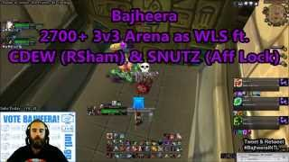 getlinkyoutube.com-Bajheera - 2700+ 3v3 Arena w/ SNUTZ & CDEW as WLS - 5.4.8 WoW Warrior PvP