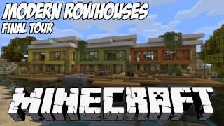 getlinkyoutube.com-Minecraft Modern RowHouses Tour HD: Final Showcase