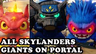getlinkyoutube.com-Skylanders Superchargers - All Skylanders Giants on Portal GAMEPLAY