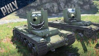 getlinkyoutube.com-War Thunder - KV-2 BEST TANK! Big Gun/Derp COMBO! (War Thunder Tanks Gameplay)