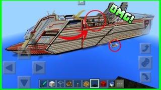 getlinkyoutube.com-Mira Este Barco Mas Grande de Todo Minecraft PE 1.0