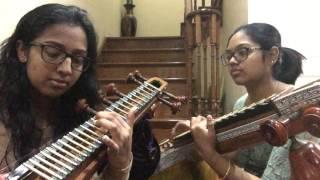 getlinkyoutube.com-Sundari Kannal Oru Sethi- Thalapathi (Veena Cover)