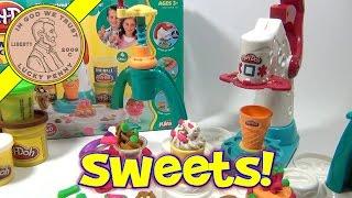 getlinkyoutube.com-Play-Doh Magic Swirl Ice Cream Shoppe Playset # 20607, 2007 Playskool - Making Food