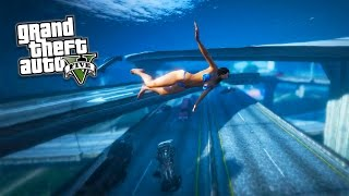 getlinkyoutube.com-GTA 5 PC Mods - TSUNAMI MOD GAMEPLAY!!! BIG WAVES, NO WATER & TSUNAMI MOD! (GTA 5 Mods Gameplay)