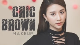 getlinkyoutube.com-Quynh Anh Shyn – Makeup #37: CHIC BROWN MAKEUP