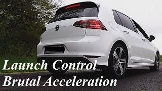 getlinkyoutube.com-VW Golf 7 R [ONBOARD]  0-100 Km/h 0-200 Km/h 1/4 Mile German Autobahn Brutal Acceleration