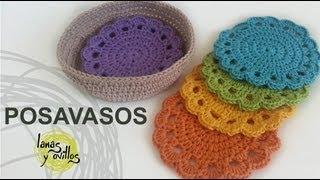 getlinkyoutube.com-Tutorial Posavasos Crochet o Ganchillo (Coasters)