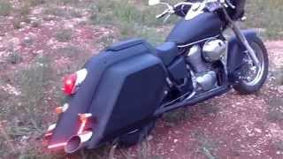 getlinkyoutube.com-Bagger Honda Shadow ACE VT 750  - Home Made