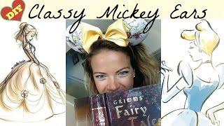 getlinkyoutube.com-Classy Mickey Ears - Belle, Cinderella, Snow White